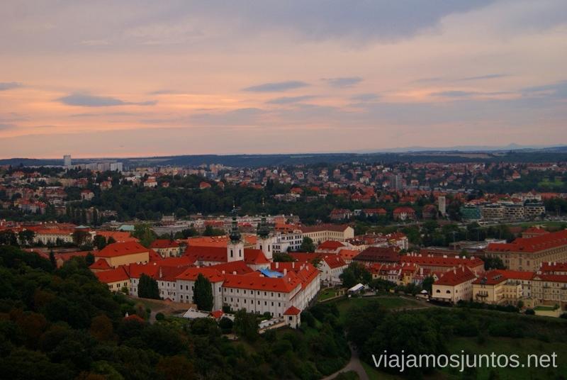 Atardeceres de Praga desde la Torre Panorámica Vistas panorámicas de Praga, República Checa
