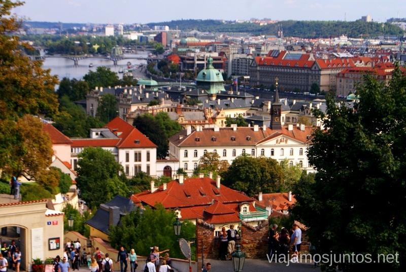 Praga desde el castillo Vistas panorámicas de Praga, República Checa
