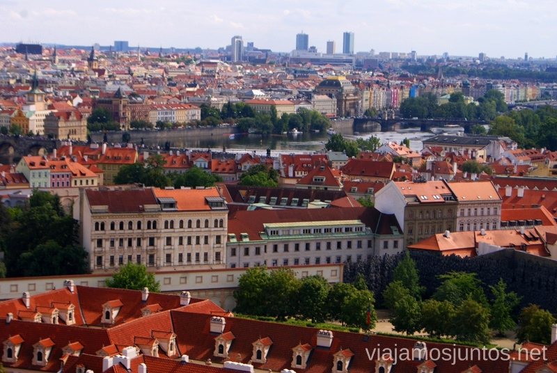 Desde el castillo Vistas panorámicas de Praga, República Checa