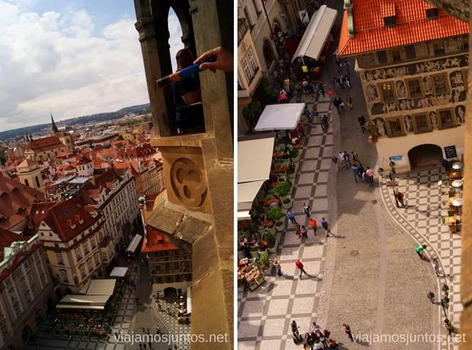 La Torre del Ayuntamiento de la Ciudad Vieja Vistas panorámicas de Praga, República Checa