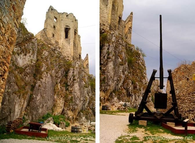 Castillo de Becov, sus murallas y exposición de las cosas