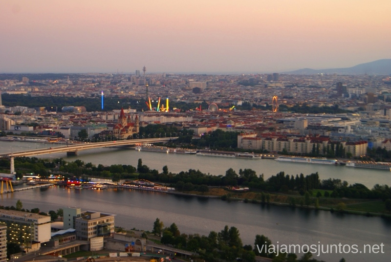 Más vistas desde la Torre del DanubioTop visitas de Viena, Austria. Que ver y hacer en Wien