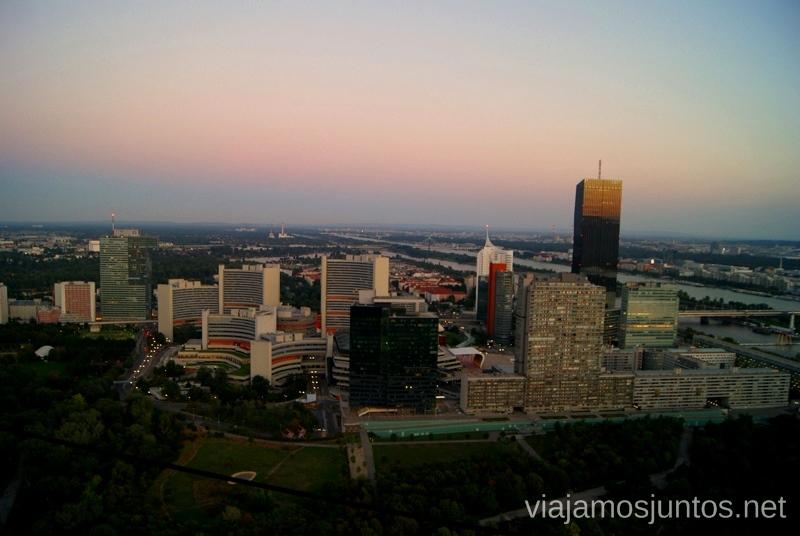 Vistas de Viena desde la Torre del DanubioTop visitas de Viena, Austria. Que ver y hacer en Wien