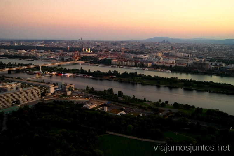 Vistas desde la Torre del Danubio Viena en 24 horas, itinerario. Que hacer y que ver en Vienna