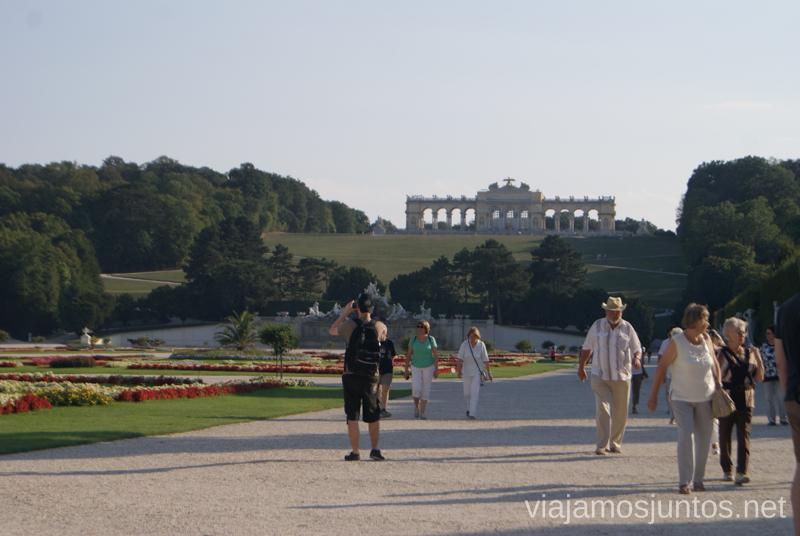 Parque del palacio Schönbunn Viena en 24 horas, itinerario. Que hacer y que ver en Vienna