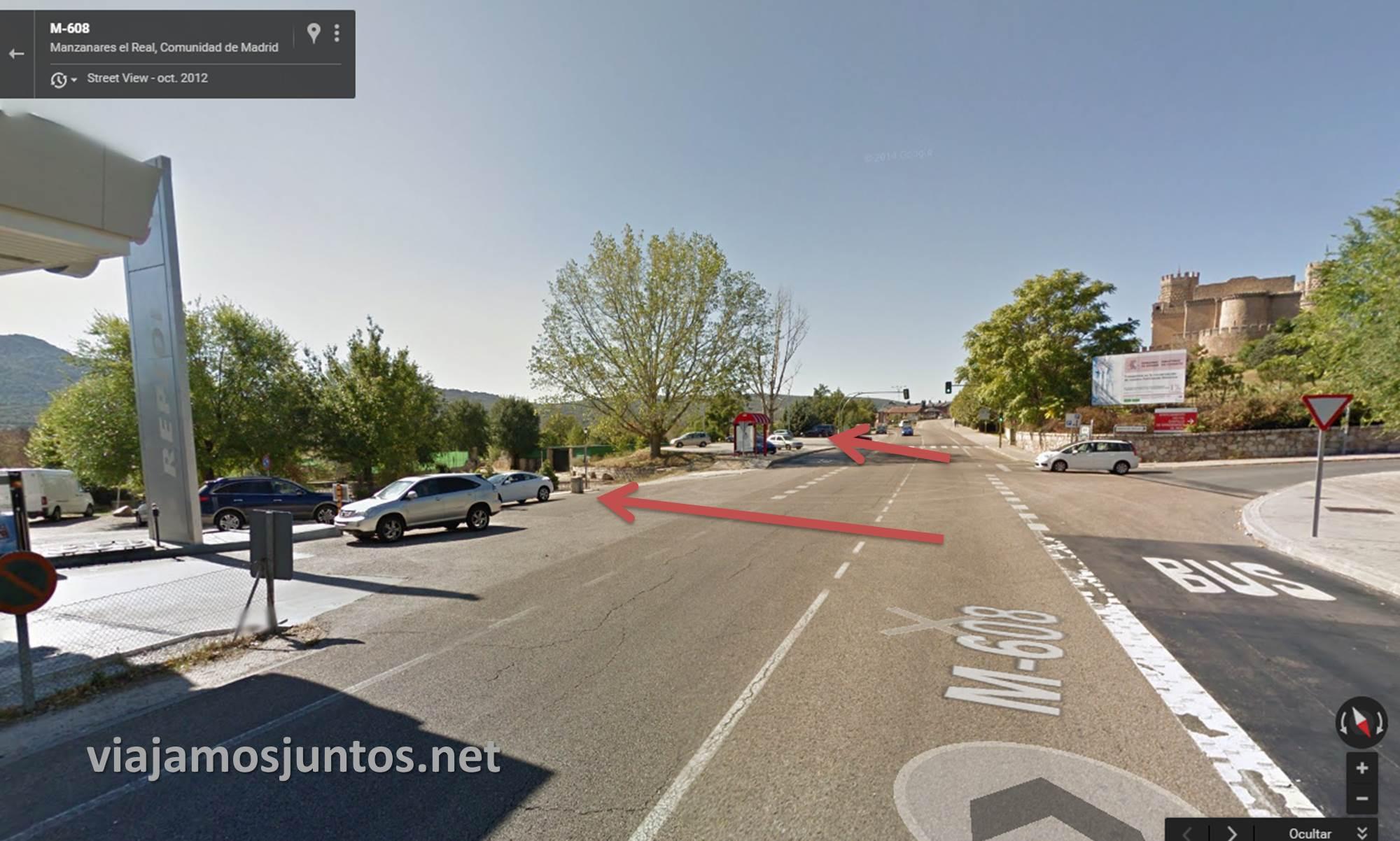 Parking opcional si vais con varios coches. Gasolinera o un poco más adelante, otro parking. Ruta el Yelmo Manzanares el Real Madrid