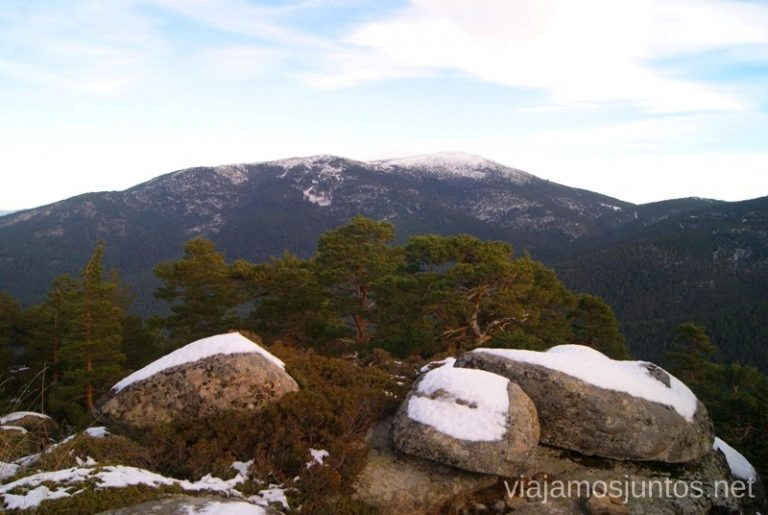 Peñalara Ruta de las cascadas, Navacerrada, Sierra Guadarrama, Madrid. Nieve, río, cascaditas, vistas panorámicas