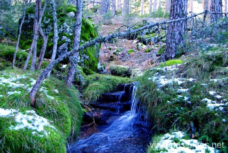 Paz y belleza Ruta de las cascadas, Navacerrada, Sierra Guadarrama, Madrid. Nieve, río, cascaditas, vistas panorámicas