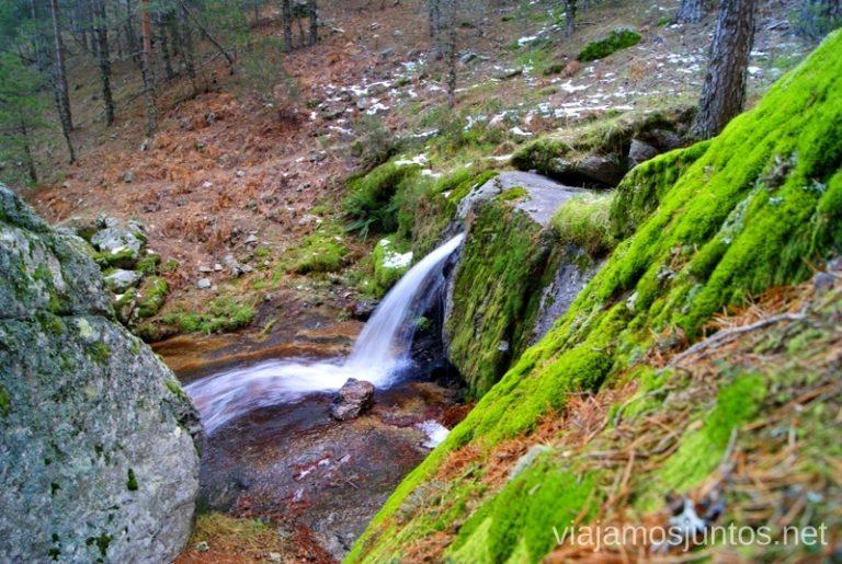 ¿A dónde me llevas? Ruta de las cascadas, Navacerrada, Sierra Guadarrama, Madrid. Nieve, río, cascaditas, vistas panorámicas