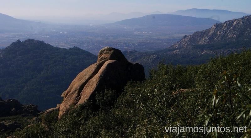 Caminar con estas vistas es un lujo Ruta el Yelmo Manzanares el Real Madrid