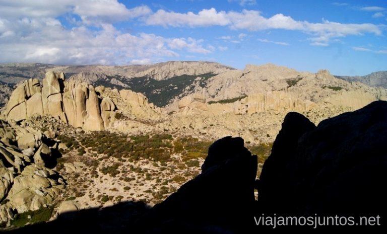 Vistas desde la zona de espera Ruta el Yelmo Manzanares el Real Madrid