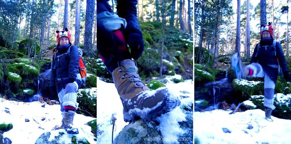 Bota de nieve muy caliente (HiTec) Caminatas de invierno. Cómo vestirse barato para rutas de invierno no tener frío.