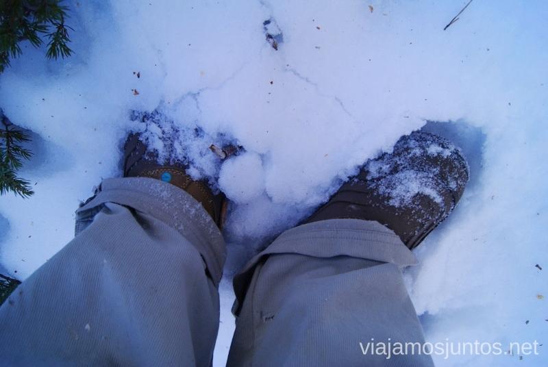 ¡Qué nieve! Caminatas de invierno. Cómo vestirse barato para rutas de invierno no tener frío.