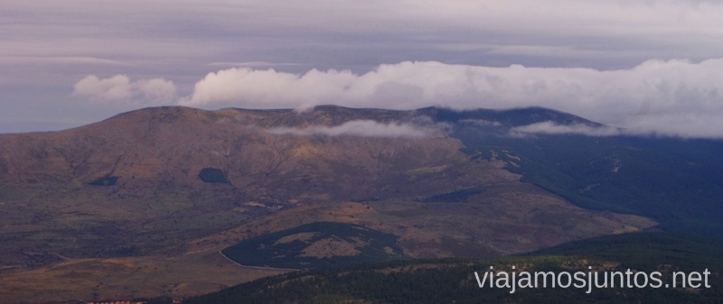 Vistas de las nubes Senderismo por la zona de San Rafael, Madrid Segovia; Ruta de la Cueva Valiente