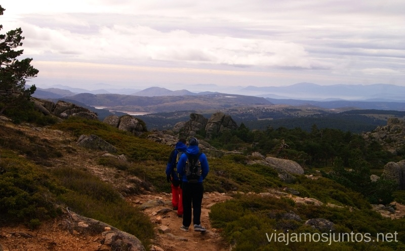 La vuelta Senderismo por la zona de San Rafael, Madrid Segovia; Ruta de la Cueva Valiente