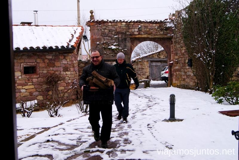 Preparando la casita Vivir invierno en Cantabria frío, nieve y experiencias únicas
