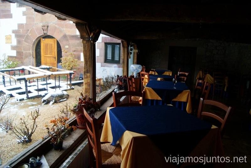 Vistas desde el comedor Vivir invierno en Cantabria frío, nieve y experiencias únicas