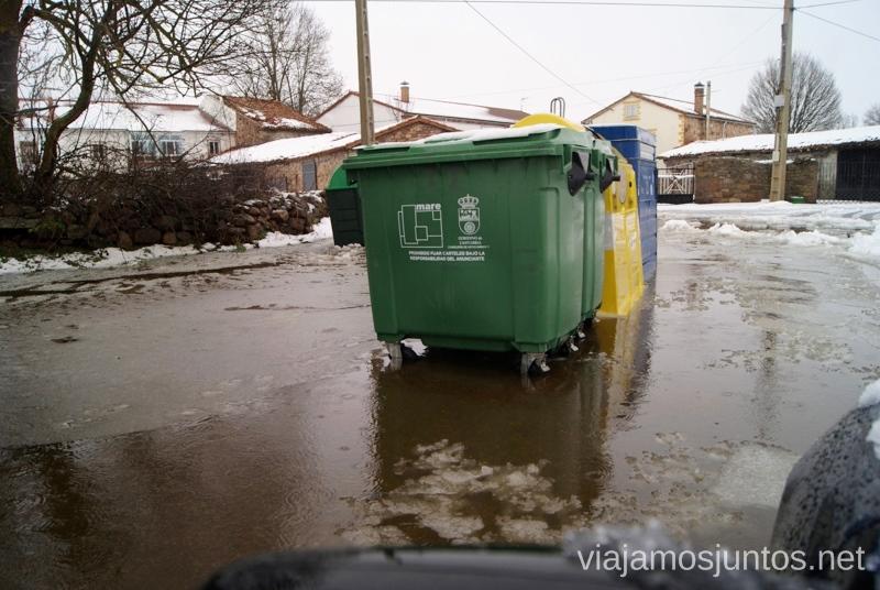 Cubos de basura flotantes Vivir invierno en Cantabria frío, nieve y experiencias únicas