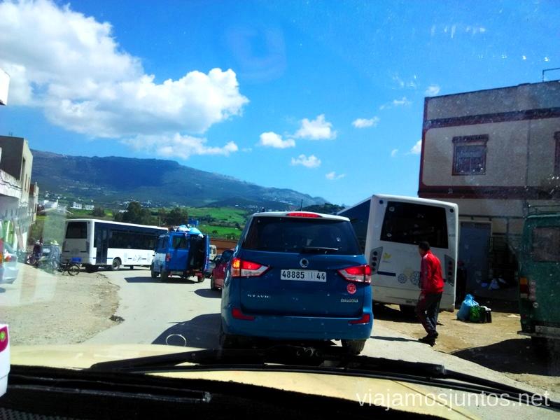 Un poco de atasco en la carretera principal #MarruecosJuntos Como es ser taxista en Marruecas