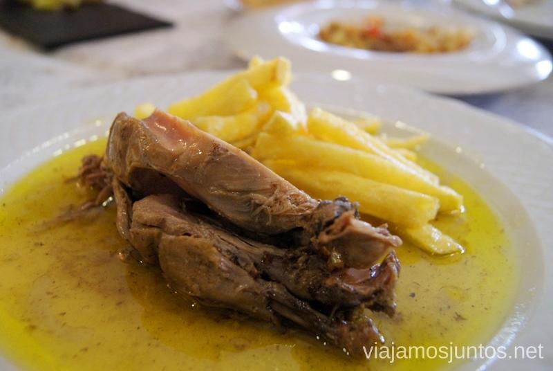 Perdíz con patata Ruta de los castillos y batallas, Jaén, Andalucía