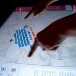 Pantalla interactiva de la batalla de las Navas de Tolosa Ruta de los castillos y batallas, Jaén, Andalucía