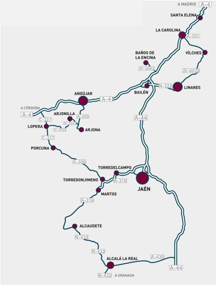 Plano de la ruta de los castillos y batalla