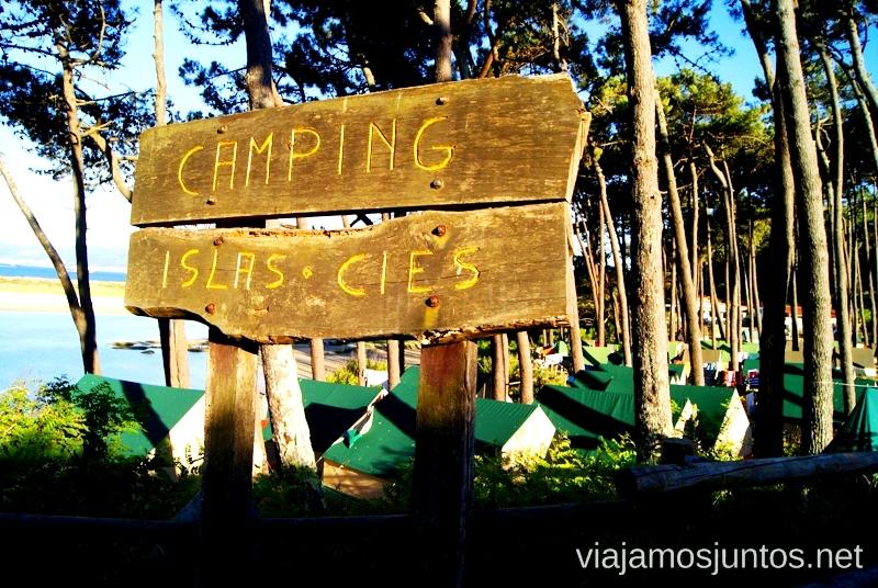El Camping de las Islas Cíes, las Islas Atlánticas, Galicia España Paraíso, playas paradisíacas #ViajarConSuegra