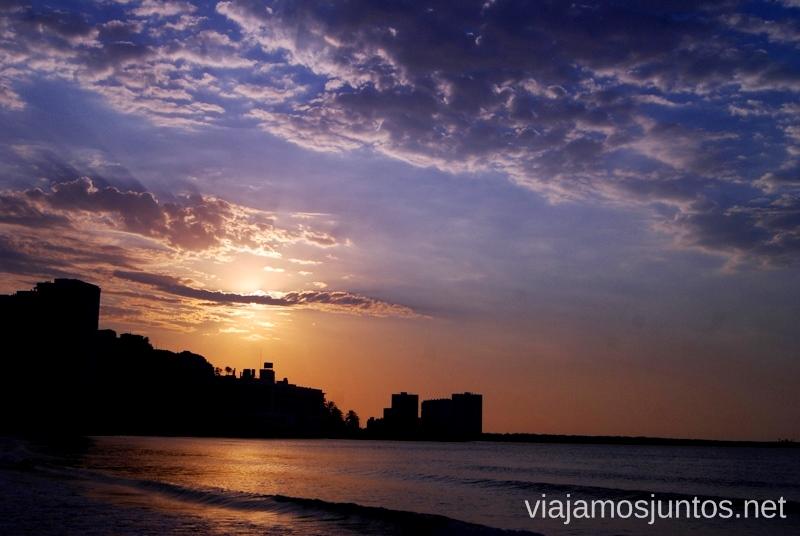 ¿Atardecer o amanecer? ¿Quién sabría decirlo? Estamos en Cullera '#ViajarConSuegra por el Sur de España, playas, mar, beach