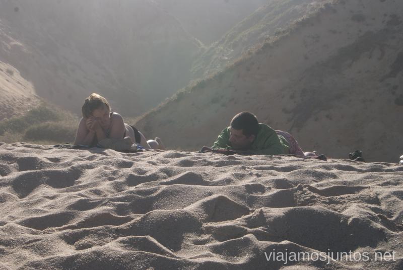 En la arena calentita Setubal, Lisboa, Portugal #ViajarConSuegra por España y portugal, playas, mar, beach