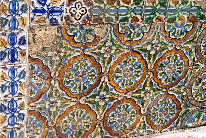 Detalles de azulejos Palacio De la Pena Que ver en Sintra, nuestro itinerario de un día por los parques y palacios #ViajarConSuegra