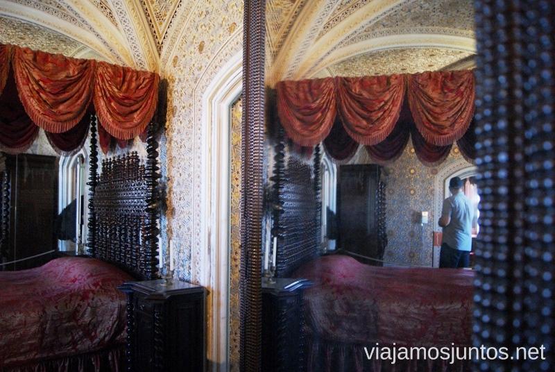 El interior del Palacio de la Pena Que ver en Sintra, nuestro itinerario de un día por los parques y palacios #ViajarConSuegra