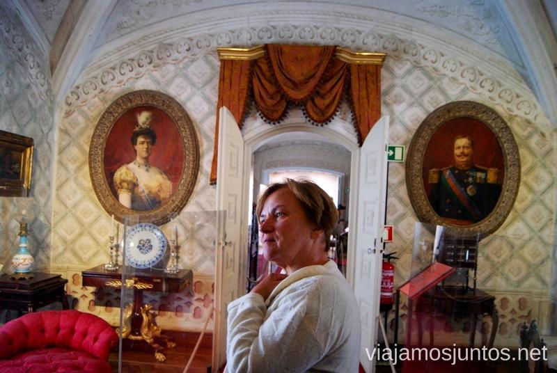 El interior del Palacio Da Pena Que ver en Sintra, nuestro itinerario de un día por los parques y palacios #ViajarConSuegra