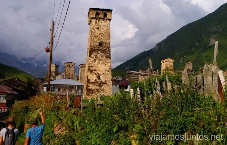El pueblo de Ushguli, Svaneti, Georgia Itinerario para viajar por Georgia. 17 días. Gran Cáucaso Parte I