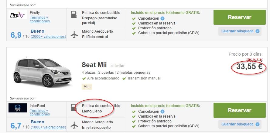Alquiler de coches baratos en Madrid