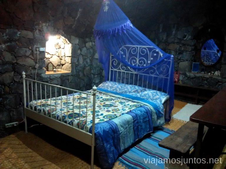 Nuestro alojamiento en cueva en Rivendell Ruta de la Caldera de Taburiente, La Palma, Islas Canarias