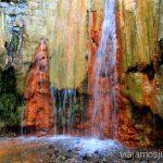 La famosa Cascada de Colores, Caldera de Taburiente Ruta de la Caldera de Taburiente, La Palma, Islas Canarias