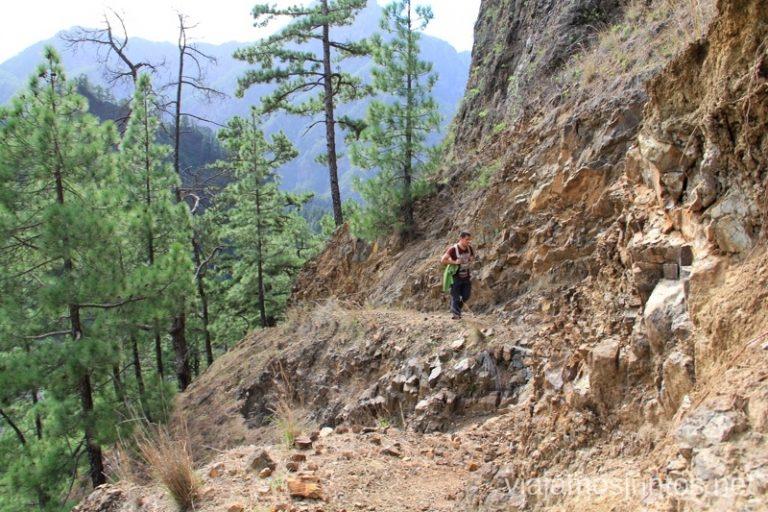 Pista en la ruta de la Caldera de Taburiente Ruta de la Caldera de Taburiente, La Palma, Islas Canarias