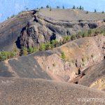 Precioso paisaje volcánico accidentado Ruta de los Volcanes, en la isla de la Palma, Islas Canarias #LaPalmaJuntos