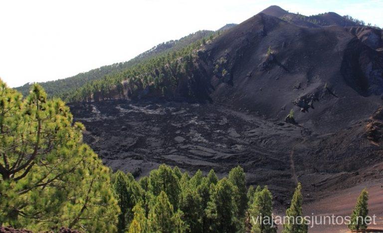 Lavas Duraznero - un juego impresionante de negros y verdes Ruta de los Volcanes, en la isla de la Palma, Islas Canarias #LaPalmaJuntos