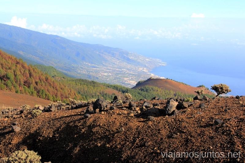 Vistas de la Costa Este Ruta de los Volcanes, en la isla de la Palma, Islas Canarias #LaPalmaJuntos