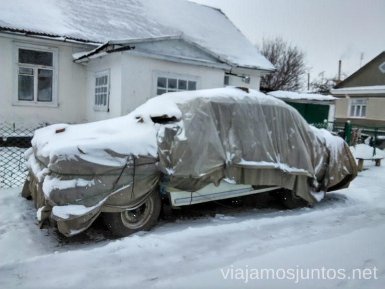 Guardando el coche de frío, Ostroh La situación actual en Ucrania