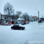 ¿Si circulan coches con nieve? Mirad La situación actual en Ucrania