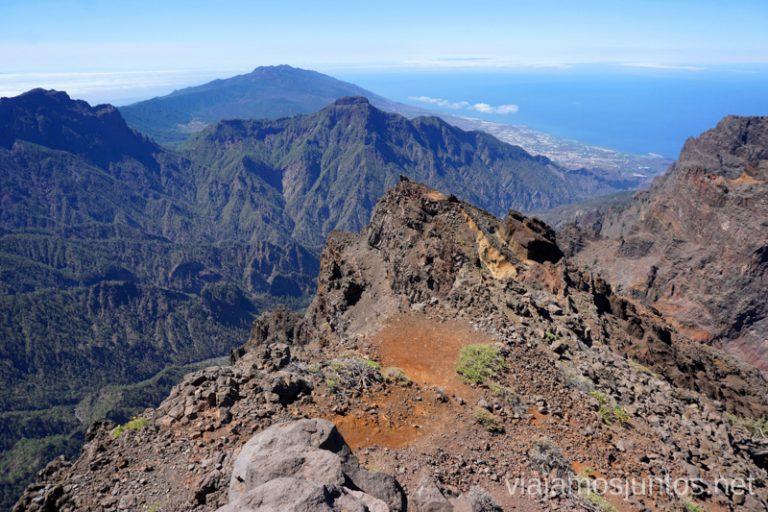 Vistas desde el Roque de los Muchachos. Guía para viajar a la Palma.