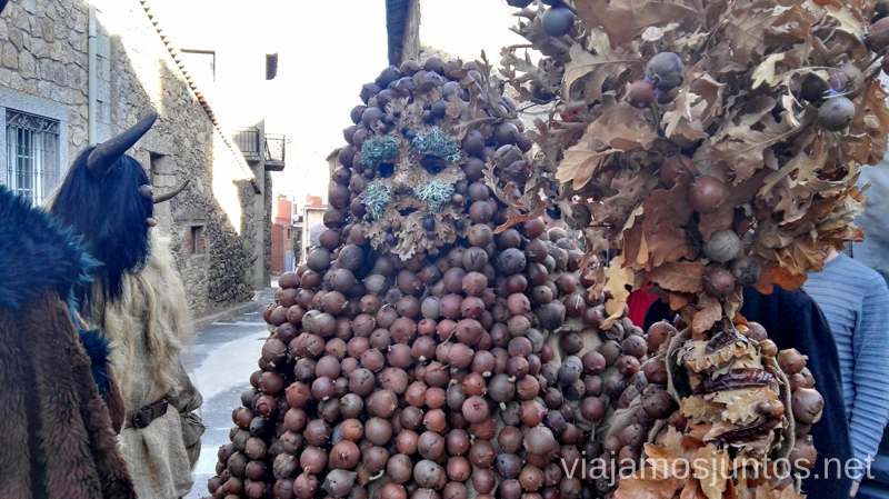 Harramacho disfrazado con agallones Mascaradas Abulenses en Gredos. Carnavales tradicionales populares Ávila Castilla y León