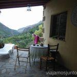 Terraza de Rivendell con vistas al Barranco de las Angustias Alojamiento barato en la Palma, Islas Canarias