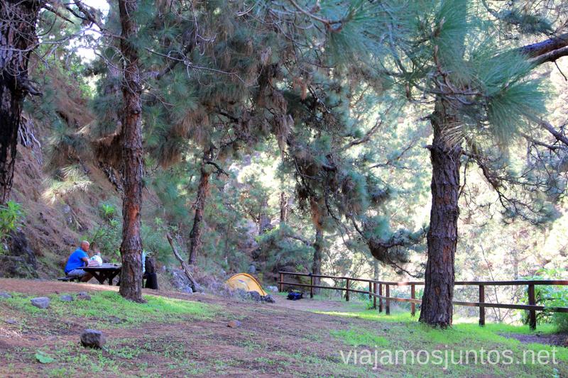 Alojamiento económico en zonas de acampada en la Palma Alojamiento económico en la Palma, Islas Canarias