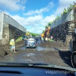 Después de las lluvias la carretera al Remo es un tanto intransitable... Carreteras más extremas de la Palma, Islas Canarias