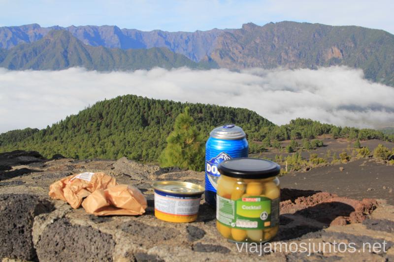 Almuerzo con vistas a la Caldera de Taburiente Qué y dónde comer en la Palma, Islas Canarias #laPalmaJuntos