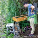 Puestecitos con artesanía durante la subida/bajada Ruta de los dragos de Buracas La Palma, islas Canarias