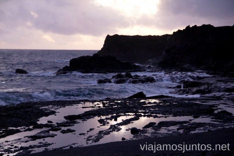 Atardeceres desde la Charca Verde Las playas de la Palma, Islas Canarias. Mejores playas.
